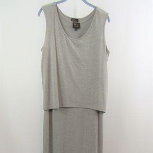 Serena Williams Signature Gray 2 pc Maxi Dress L